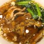福満園 - パイコー麺 ¥1,000  パイコーは厚みも薄く、やや物足りない。麺は腰があり、喉越しもよい。