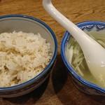 shodaigyuutanakabee - 麦飯・テールスープ