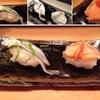 栄すし - 料理写真:にぎり(さより&赤貝)。この時期(3月)らしいネタですよね。