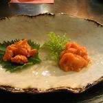 心粋厨房 獬 - 塩ウニとホヤの塩辛