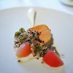 モトイ - フォアグラ 林檎のコンポート キヌア フロマージュブランのソース