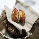 ラチュレ - 栗のケークサレ 鹿のサラミ クリームチーズ