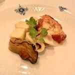 120392286 - ②燻製牡蠣紹興酒漬け・タコマスタード・イカ・チーズ