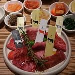 jukuseiwagyuuyakinikueijingubi-fu - 6部位食べ比べ