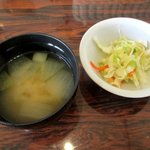 あけぼの - コールスロー&味噌汁!