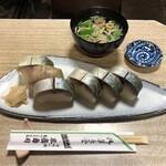 Suehiro - 鯖寿司&お吸物