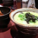 高蔵寺ダイニング おばんどり - 鶏スープ雑炊