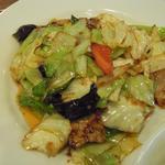 明月房 - ホイコーロー定食の回鍋肉
