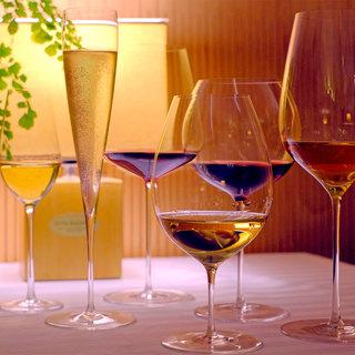 ワインに合った素敵なグラス類、お料理とのペアリングもどうぞ!