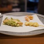 天ぷら 酒菜 醍醐 - 鰆と銀杏