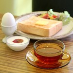 喫茶モーニング - ホットティー