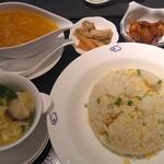 120423097 - 上海蟹入りあんかけ炒飯セット(杏仁ゼリーとドリンクも付きます。)