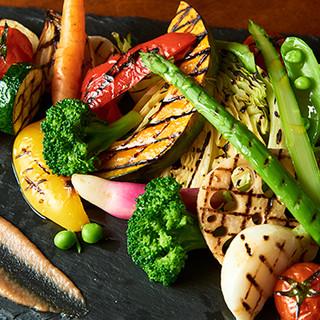 フレッシュな産直野菜は、旨味がギュッと詰まって絶品☆