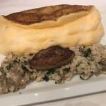 ラ・メール・プラール - キノコと押し麦のクリームリゾット、フォアグラ添えプラス300円