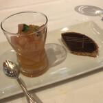 ラ・メール・プラール - フルーツサラダとチョコタルト