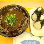 蜜焼カレー - 蜜焼きそばと韓国風のり塩むすび