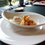 12044372 - 卵と海老の前菜