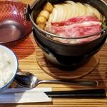 120445945 - すき焼き定食 1210円