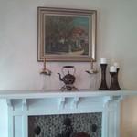 えの木てい - 小さな暖炉とえのきていを題材とした絵