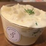 Potato Cream - かぶと鶏肉のゴルゴンゾーラ(550円)