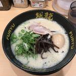 博多風龍 - 豚骨ラーメン半熟卵付(720円)
