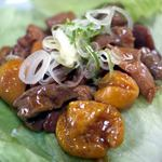 八ヶ岳ラーメン 麺八 - 甲州鳥もつ煮 ¥400-