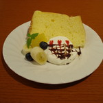 ティーカフェ - シフォンケーキ