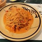 アンブロージャ - 料理写真:手長エビのスパゲッティ スープ デザートつき1,890円