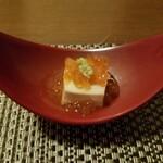 とり割烹 赤坂 いし井 - 先付け 胡麻豆腐のイクラのせ