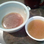 茅場町 長寿庵 - 鴨のスープに蕎麦湯を投入して熱燗菊正宗と一緒に呑む!
