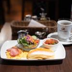 カフェタナカ - ビッグモーニングパンケーキハーフサイズ