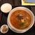 松の樹 - 料理写真:ランチの担々麺とサービスの半ライス