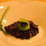 イタリア料理 リストランテ フィッシュボーン - イカ墨リゾット