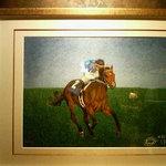 アスコット - お客様にいただいた刺繍。騎手と馬。素敵です。