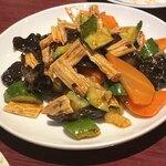魯園菜館 - ゆばとキュウリの和物
