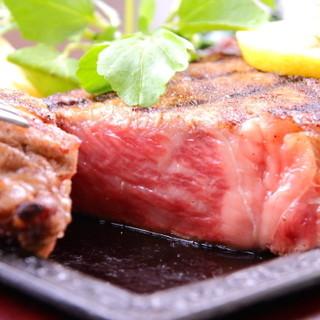厳選された国産銘柄和牛の素材をそのままに!絶品ステーキに舌鼓