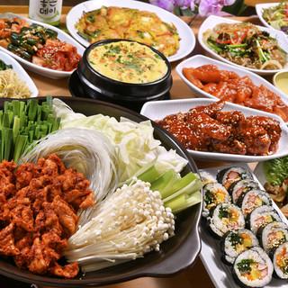 韓国の味を大満喫!充実のソウル市場の【宴会コース】