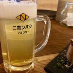 ニホンバシ・ブルワリー - ・Honey Lager M 580円