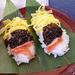 手打ちそば処二八 - さるそばセットの笹寿司