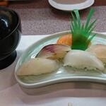 ふく万 - 本日の握り寿司五貫