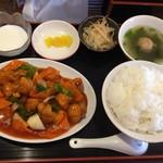 中華料理 福満亭 - 日替わりの酢豚定食