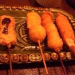 串の坊 - お昼のAセット7本のうちの一部