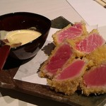 pon屋 - 生本鮪の瞬間カツレツ、美味しくないわけがない!