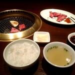 松島園 - 和牛焼肉ランチ 1600円+税