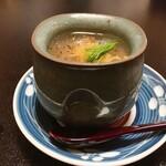 120539143 - 鱶鰭の茶碗蒸し                       胡椒がいいアクセントになってます。