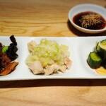 Dhintaifon - 前菜3種盛り