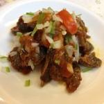ガネーシュ&バー - バングラ(砂肝のスパイス炒め)