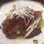 蓬溪閣 - 牛肉の醤油漬けです 中華料理で牛肉が美味しいってなかなかない