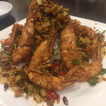 蓬溪閣 - 本日の大ヒット 車海老のスパイシー揚げです これはお腹いっぱいになる前に食べるべき
