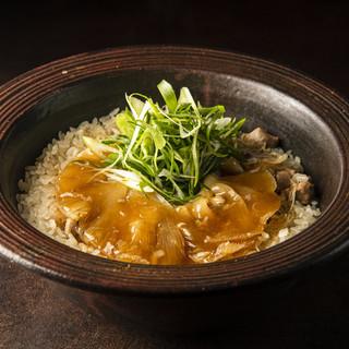 フカヒレを贅沢に使った土鍋ご飯